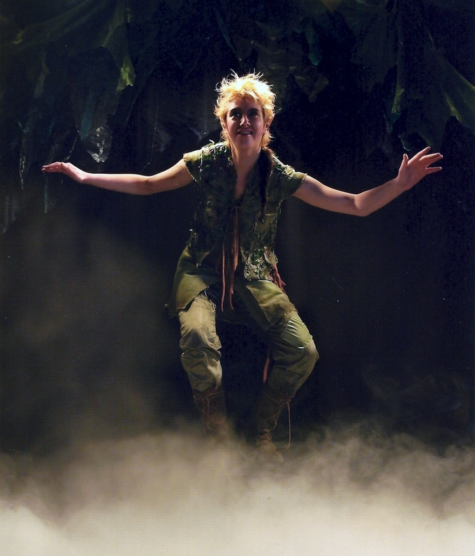Katherine as Peter Pan in Peter Pan