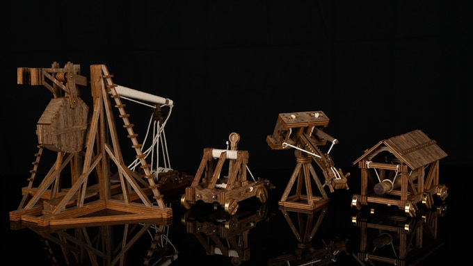 Trebuchet, Catapult, Ballista, and Battering Ram