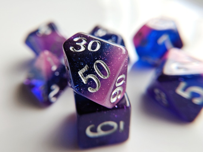 Storm Elemental Resin Dice