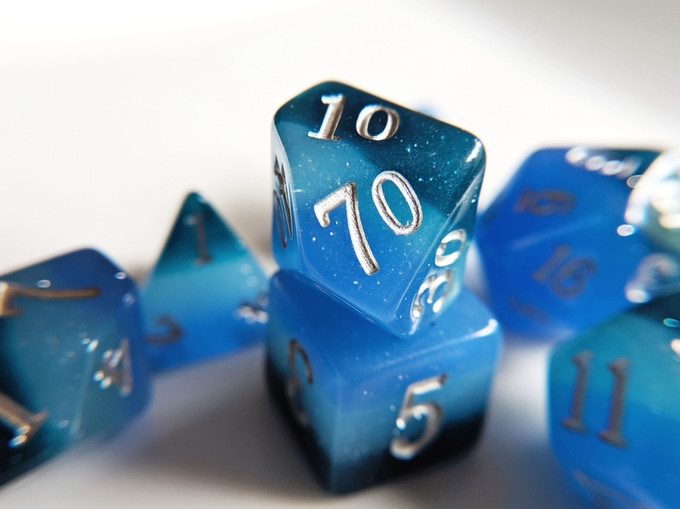 Deep Ocean Elemental Resin Dice