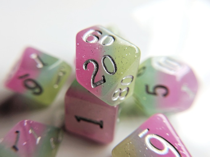 Fresh Spring Elemental Resin Dice