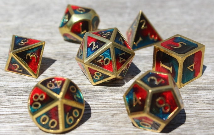 Dangerous Fire Elemental Metal Dice