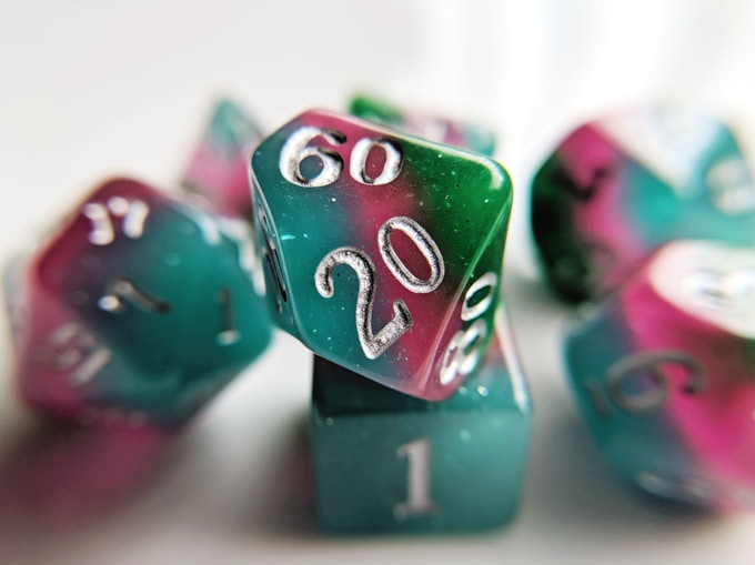 Garden Elemental Resin Dice