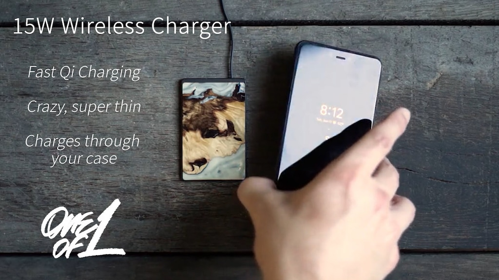 Super Thin 15W Wireless Charger. Works with your case. project video thumbnail
