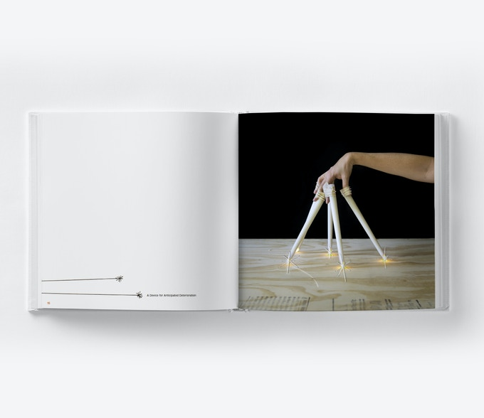 Sample layout in book. Image on right is #67, A Device for Emotional Intellegence.