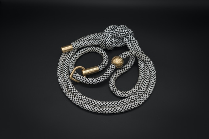 The Black Diamond Super Slip Leash with alloy hardware in matte gold
