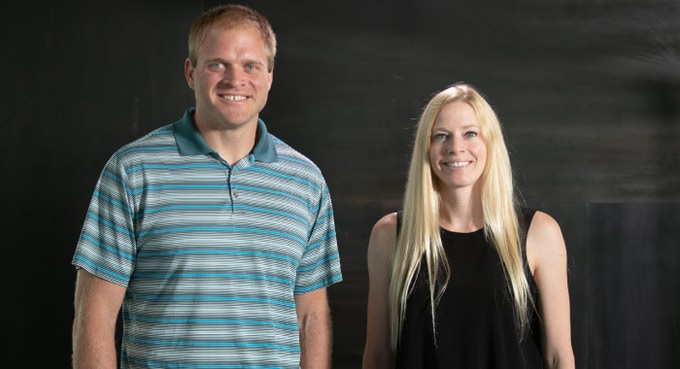 Jeff Byers and Erica Good, Amp Human's founders.