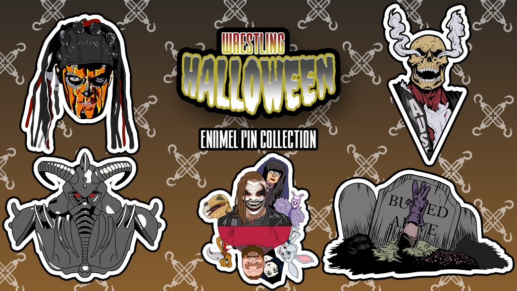 Project image for WRESTLING HALLOWEEN Enamel pin collection