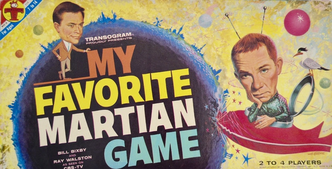 1963 Transogram board game after the CBS  T.V. show that features Ray Walston and Bill Bixby!