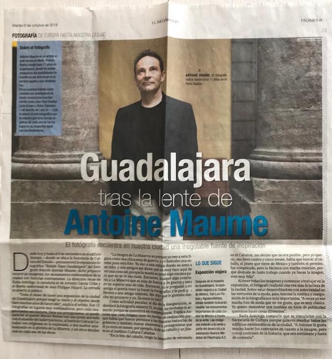 """Article de presse de l´exposition """" Balade dans Guadalajara""""."""