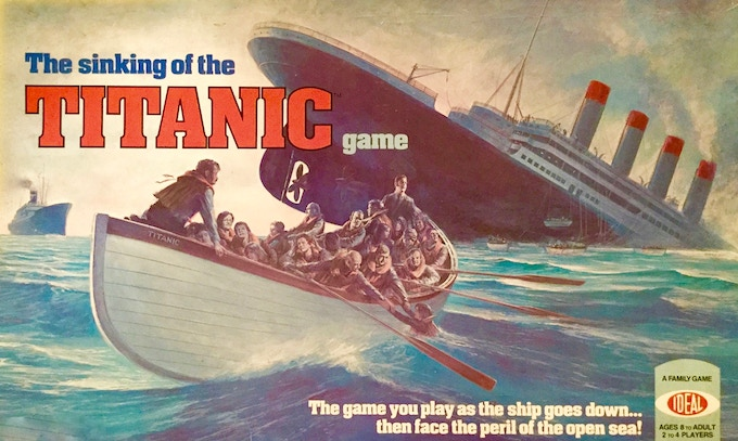 1976 By Ideal Toy Corp.  Representing the April 11, 1912 British Liner Titanic on her maiden voyage...rescue the passengers as she begins to sink!