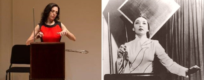 Dalit Warshaw, composer and CLara Rockmore, thereminist
