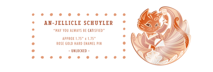 An-Jellicle Schuyler rose gold pin (UNLOCKED)