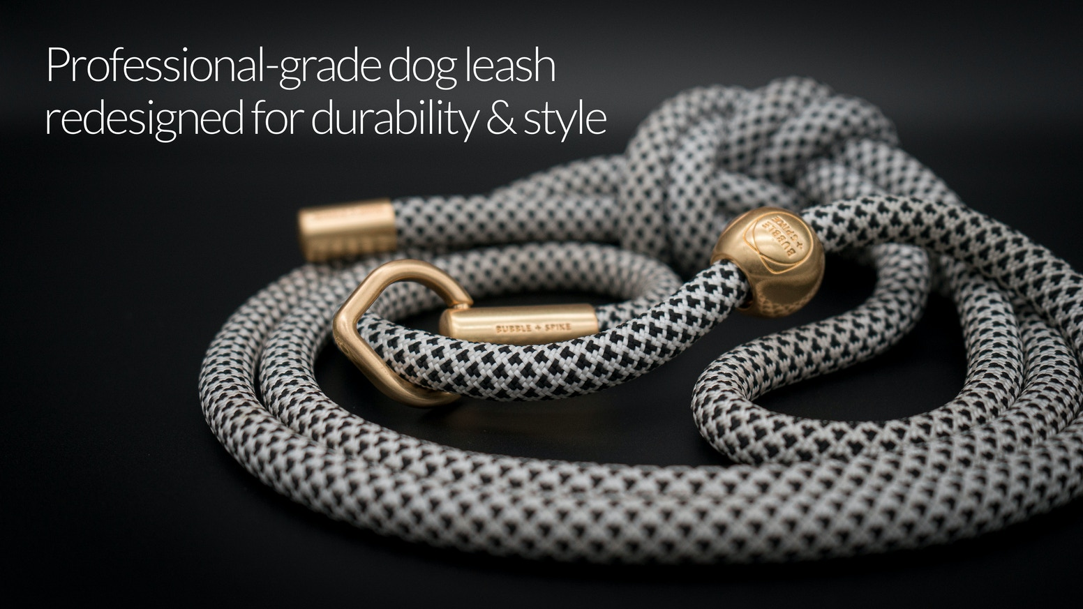 A professional-grade dog training leash, redesigned for durability & style.
