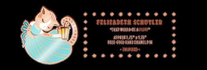 Felizabeth Schuyler rose gold hard enamel pin (UNLOCKED)
