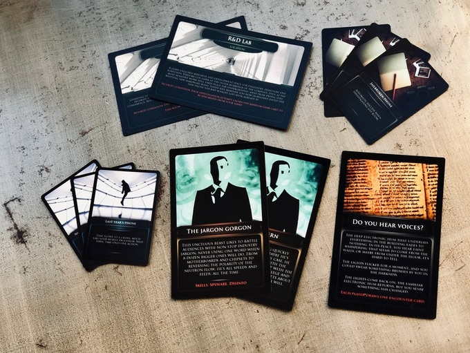 Early prototype cards.