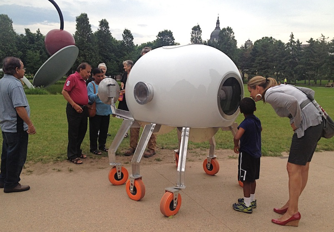 Bio Scenic Travel Machine at theMinneapolis Sculpture Garden
