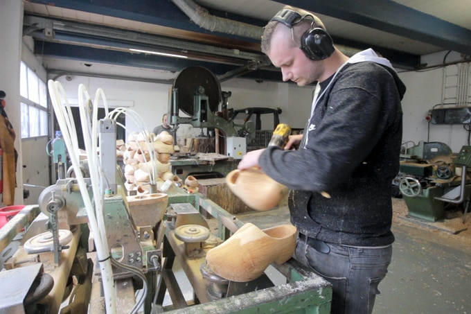 The Reqlaim wooden shoe button factory in the Netherlands.
