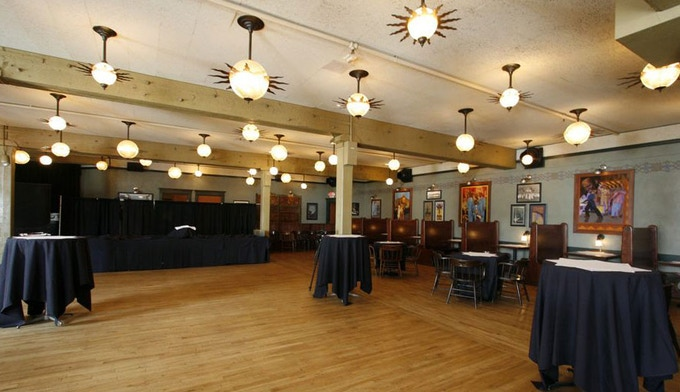 Lola's Room at the Crystal Ballroom is a speakeasy style space with a cosmic flair.