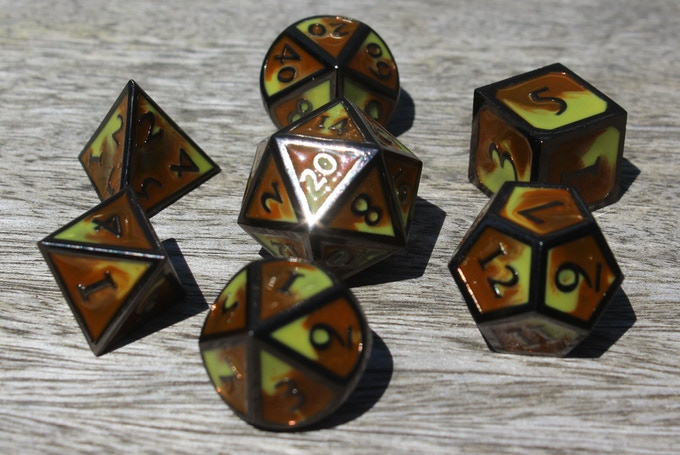 Desert Elemental Metal Dice