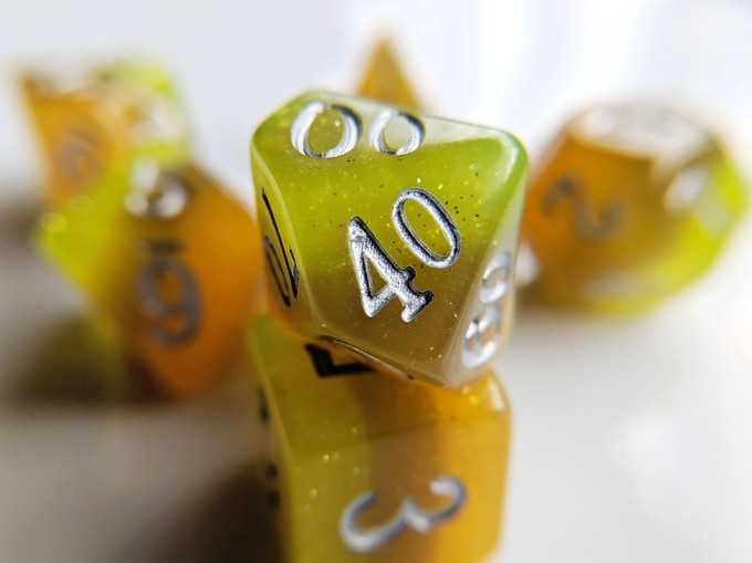 Desert Elemental Resin Dice