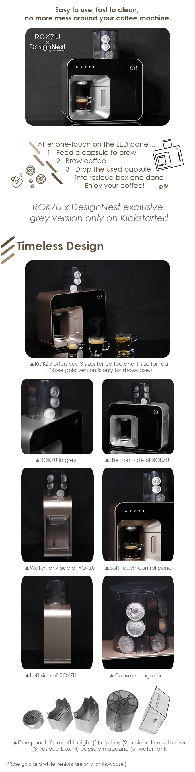 ROKZU™: World's first fully automatic capsule coffee maker