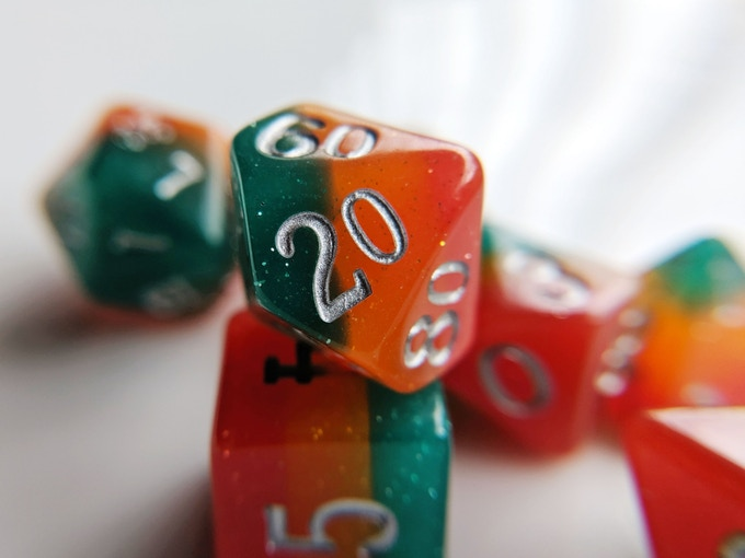 Dangerous Fire Elemental Resin Dice