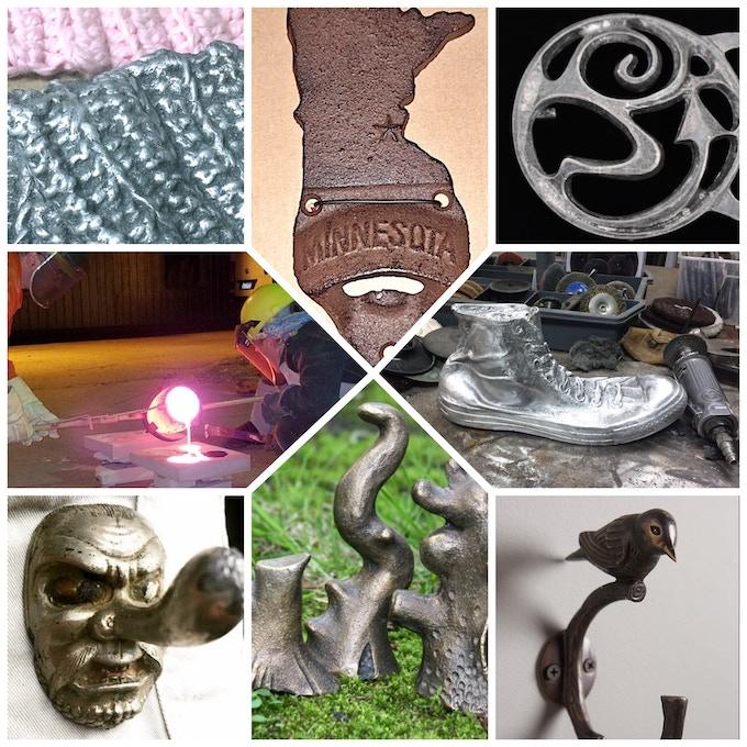 Cast Metal Gift-Making Class - sculpture, wall hooks, bottle openers, textiles, belt buckles, etc.