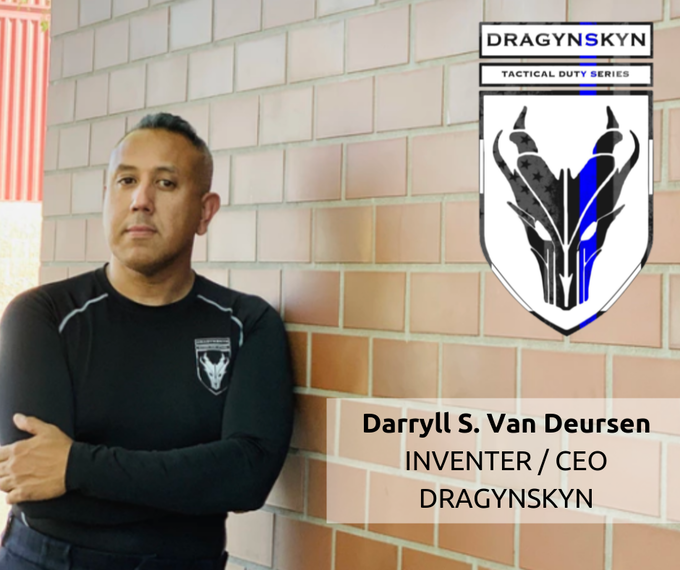 """I created DragynSkyn after 10 years in law enforcement and wearing heavy body armor under my uniform. I would sweat in temperatures up to 110 degrees in the summer in one of the hottest places to live I realized that a moisture-wicking fabric doesn't work for my industry. I discovered when sweat is """"wicked"""" to the surface of the fabric, it has nowhere to go but to be absorbed by the kevlar. With no ventilation due to the body armor being compressed against the body, I believed in order to prevent this problem someone had to invent a new type of fabric technology ... so I did."""