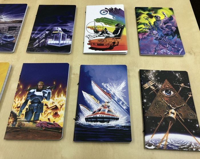 These look so cool that we should consider a Kickstarter project to just make folders and journals featuring classic SJGames art.