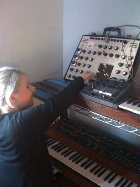 In the studio with Greg Kurstin, LA 2008
