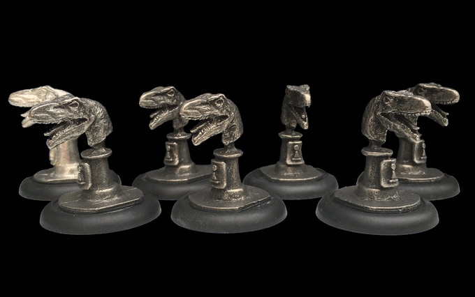 Velociraptor Bust- Pawn Piece
