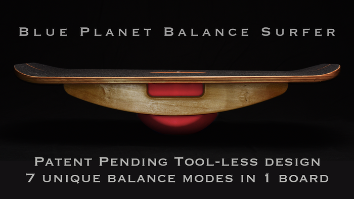 A multi purpose standing desk and exercise balance board.