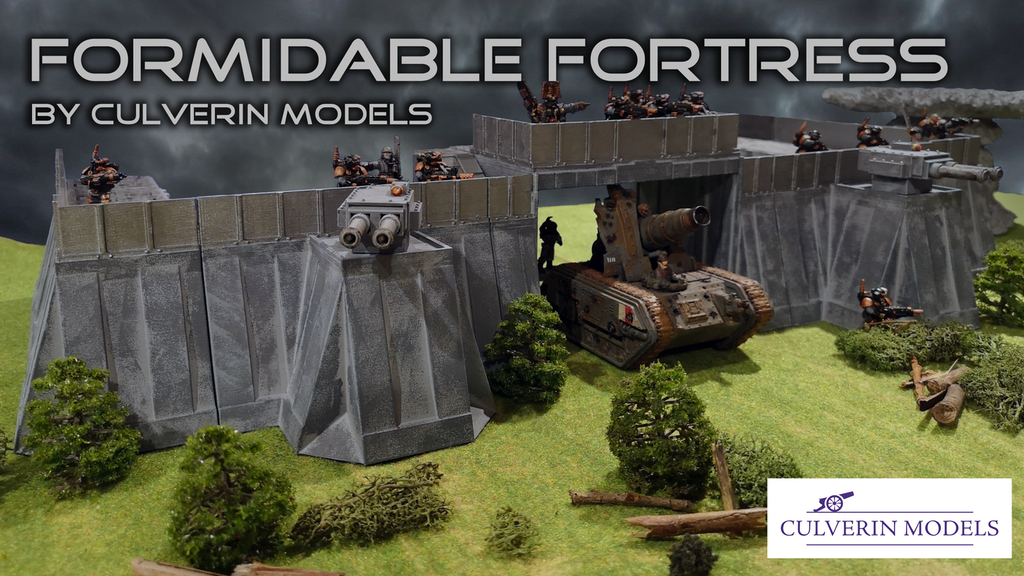 3d printable fortress terrain for 28mm wargames