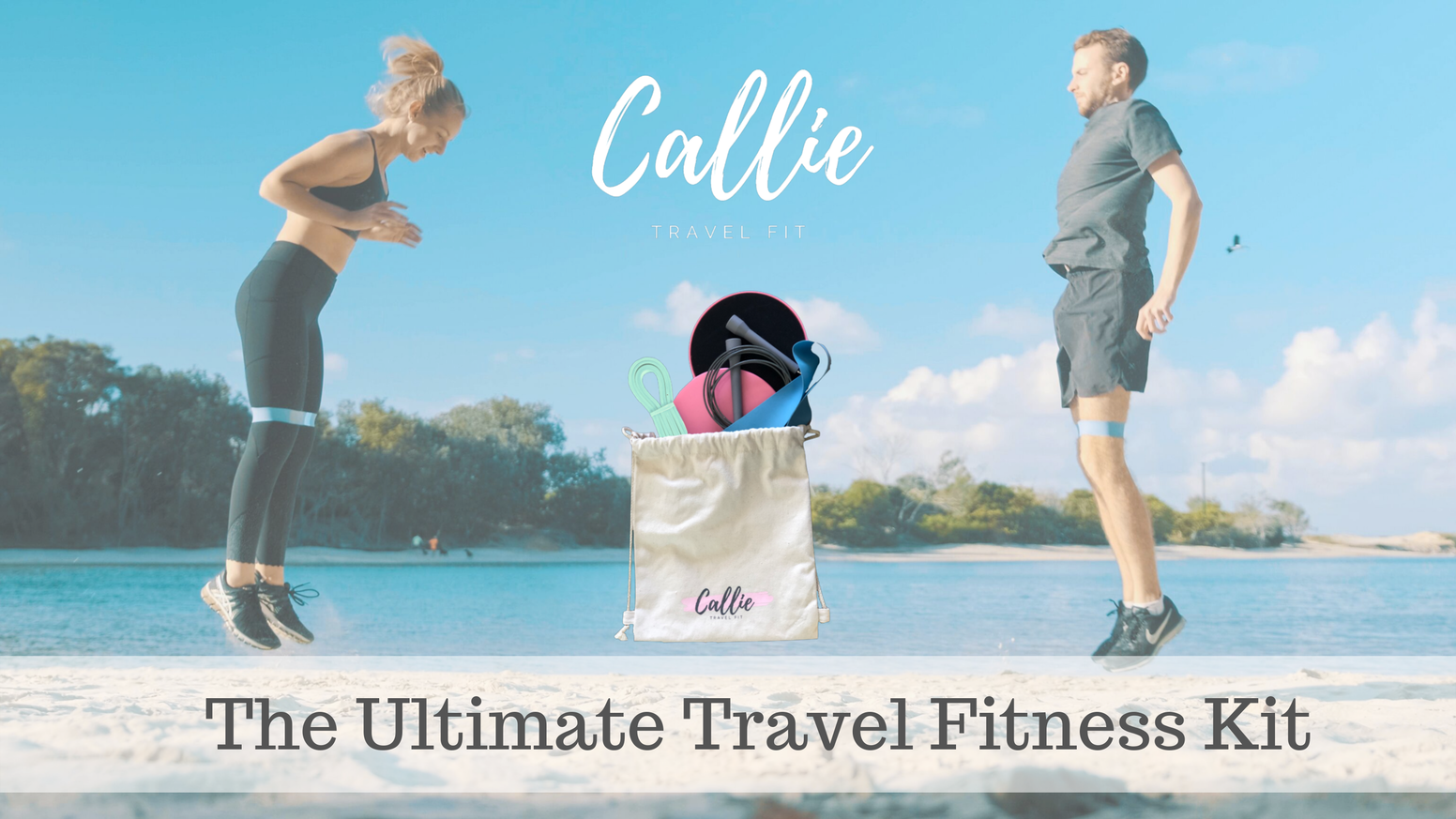 A lightweight beautifully designed travel fitness kit that lets you workout anywhere.