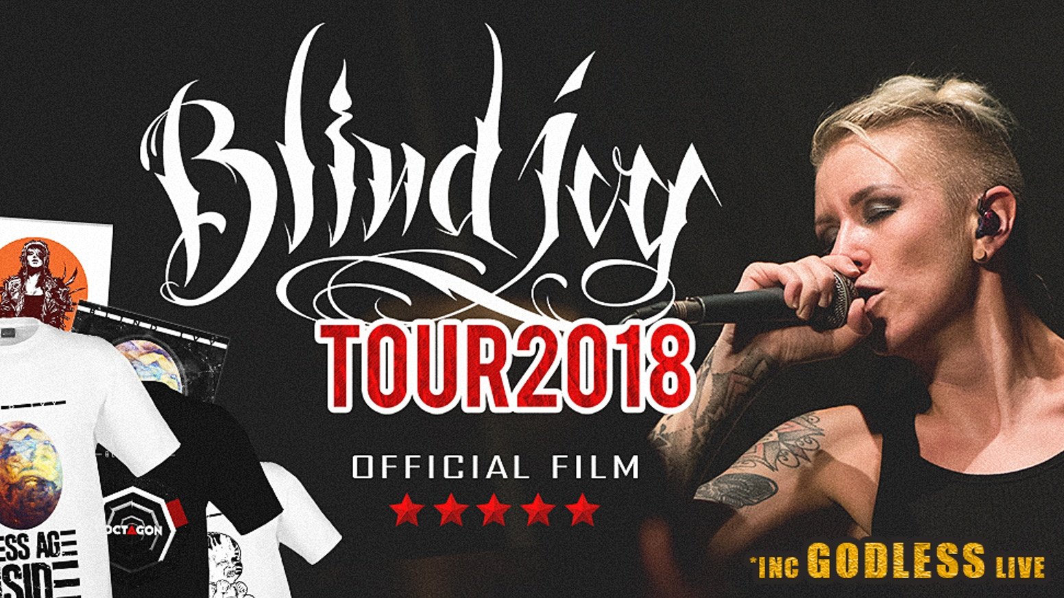 The full length feature documentary film capturing Blind Ivy's Tour of 10 cities & NEW MERCH #GODLESS