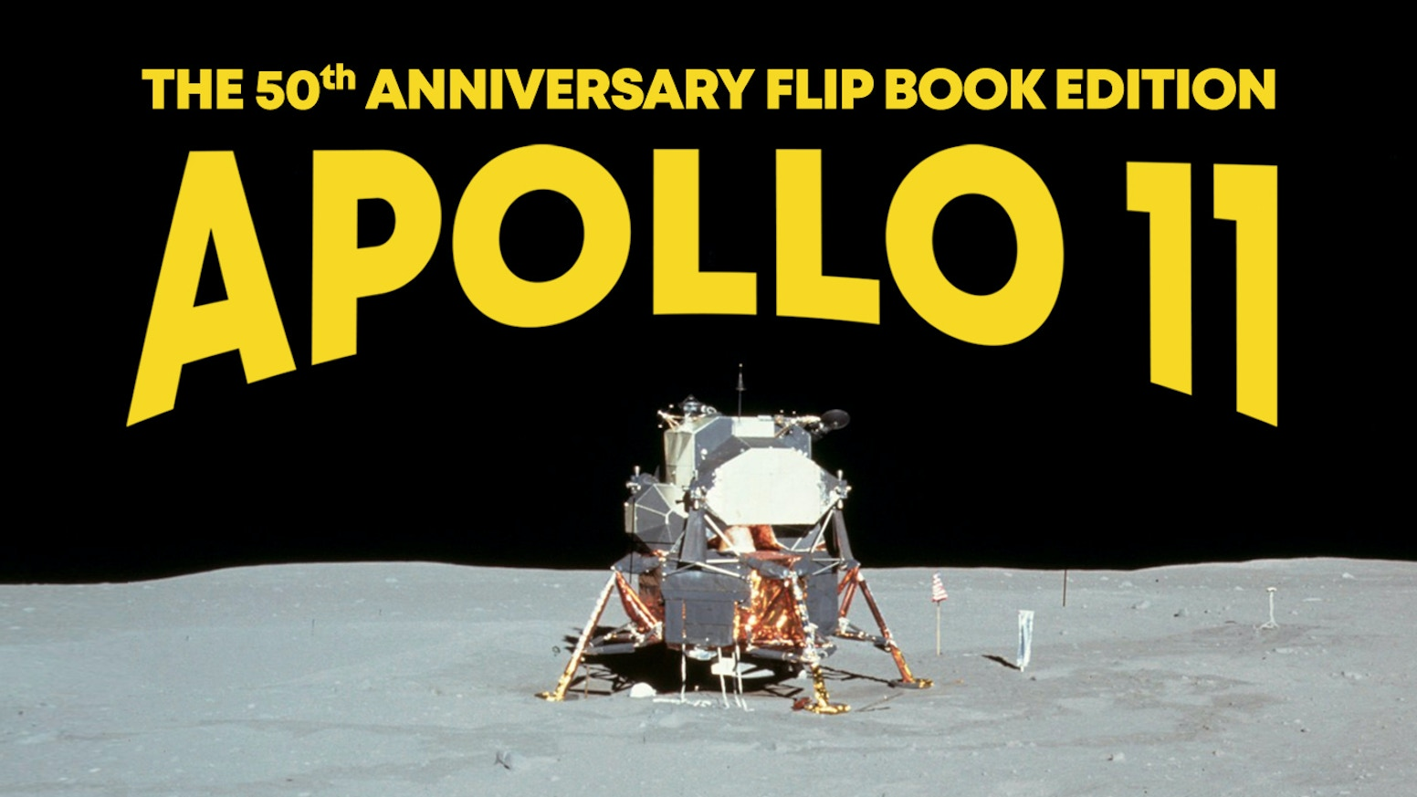 A remarkable Flip Book Collection celebrating the 50th Anniversary of the First Moon Landing