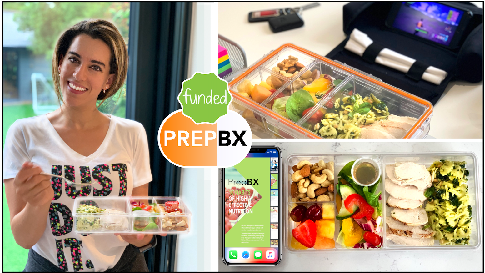 Quickly Prep Lunch • Durable • Leak Proof • Comes With A Carry Case + Phone Holder • Compact & Quick To Clean • Portion Guided Meals