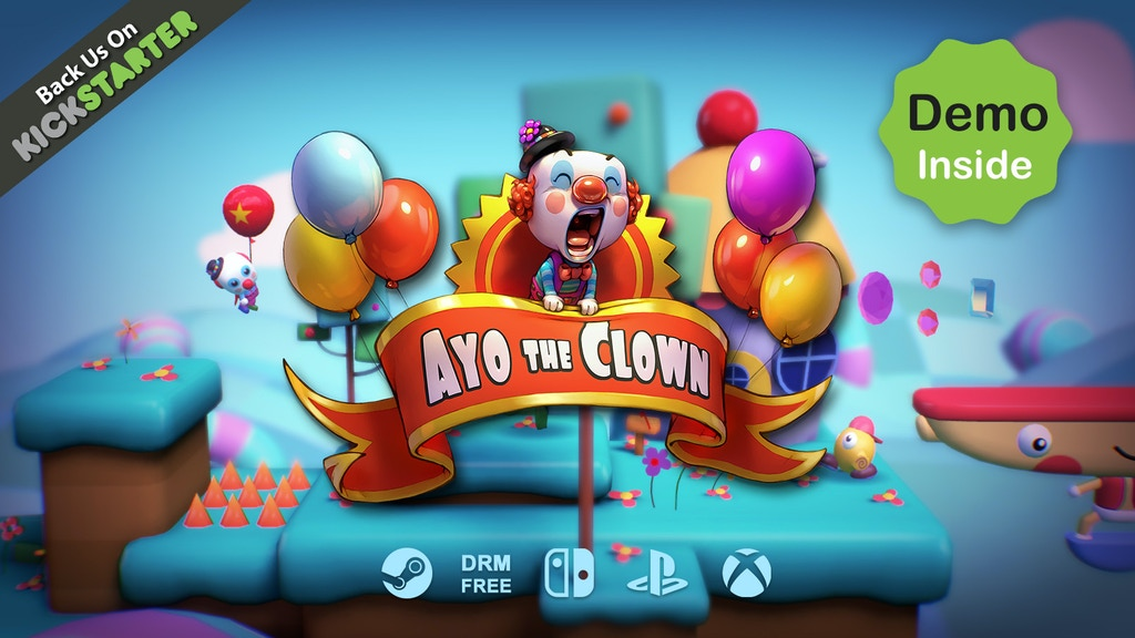Ayo The Clown - A Playful 2.5D Platform Game. project video thumbnail