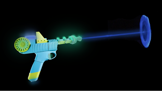 A Cosmic Blaster with Magic Glowing Water! A Liquid Laser!