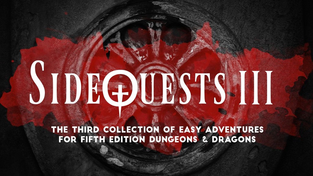 Project image for SideQuests 3: More Easy Adventures for 5E Dungeons & Dragons
