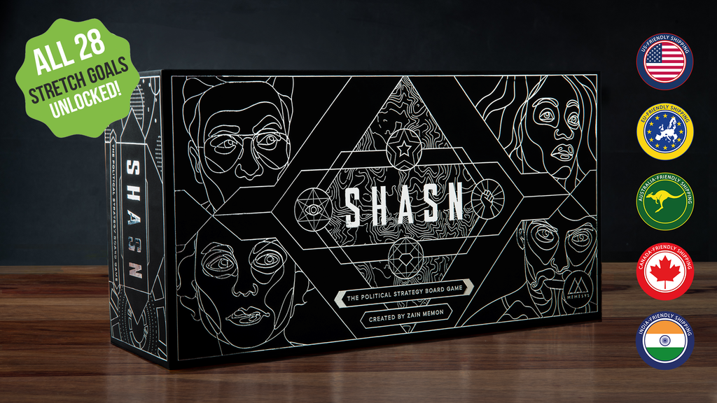 SHASN - The Political Strategy Board Game project video thumbnail