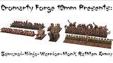 Cromarty Forge 10mm: Samurai-Ninja-Warrior-Monk-Ratmen Army thumbnail