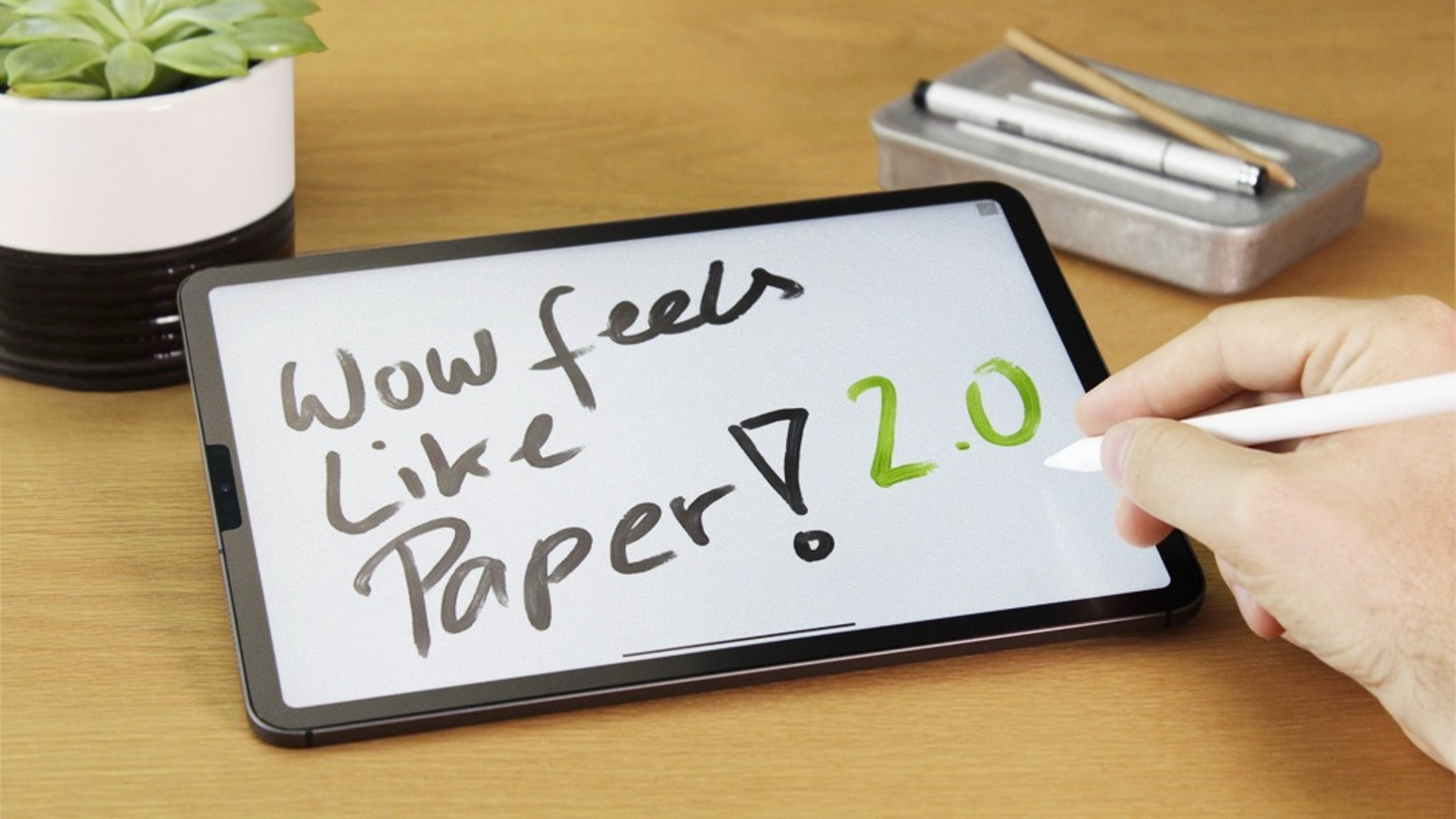 Love your iPad even more! The improved Paperlike screen protector with Nanodots surface, makes writing and drawing feel like on paper.