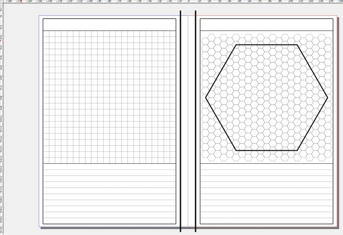 A5 Gamers' Notebook Grid and Hex Version