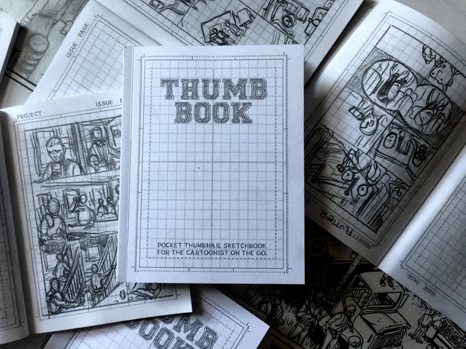 THUMB BOOK: Thumbnail sketch book for cartoonists