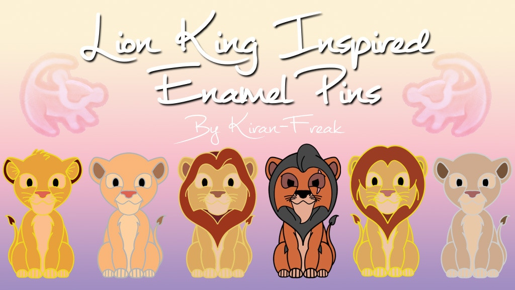 Project image for Lion King Inspired Enamel Pins