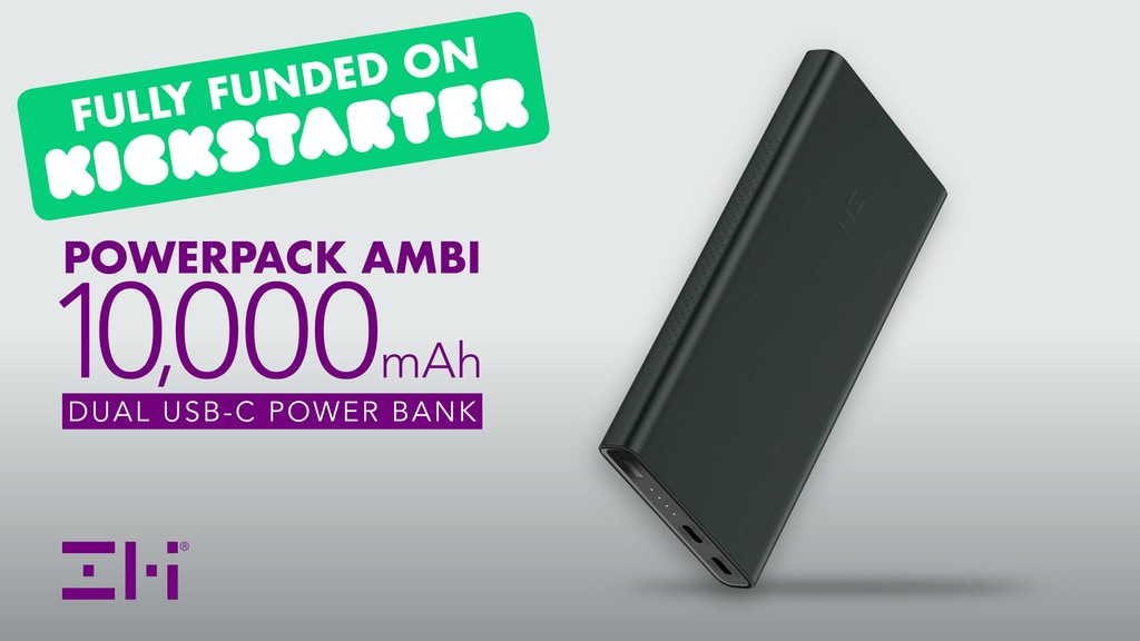 The PowerPack Ambi - Matte Black Dual USB-C Battery Pack project video thumbnail