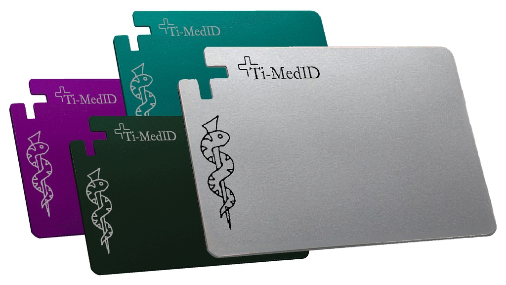 Project image for Ti-MedID titanium medical ID cards (Canceled)