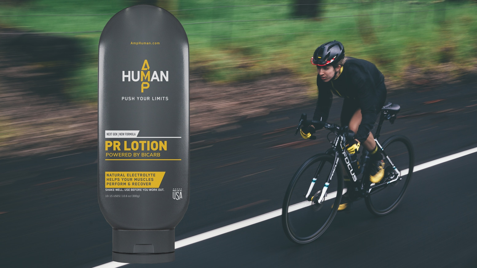 PR Lotion neutralizes acid in your muscles so you can work out harder, for longer, with faster recovery. This campaign is over, but you can learn more or buy PR Lotion at amphuman.com.
